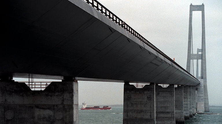 Stora Bältbron i Danmark.