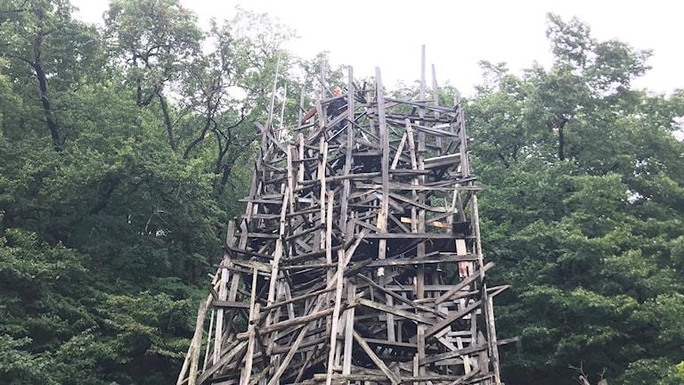 Albert och Alva Alperud i tornet på Nimis.