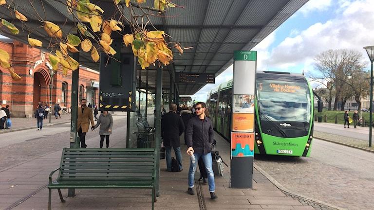 Stadsbuss vid Malmö C. Foto: Petra Haupt/Sveriges Radio
