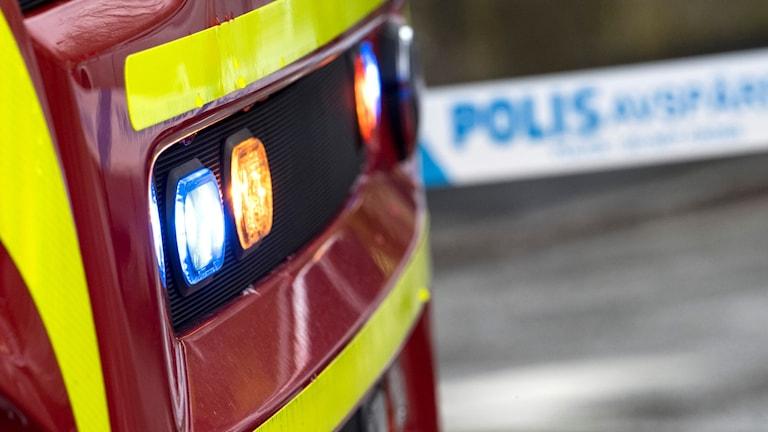 Brandbil i Malmö. Foto: Johan Nilsson/TT.