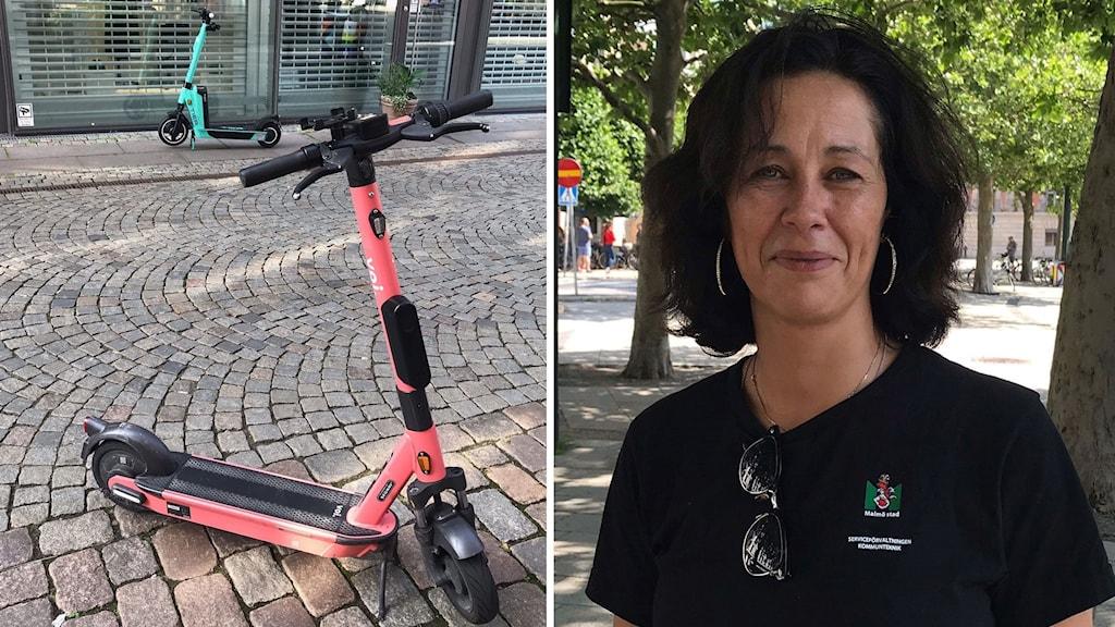 illie, renhållningsarbetare på Malmö Stad. elsparkcyklar
