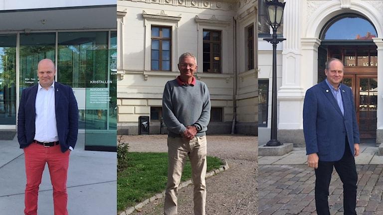 Lundapolitikerna Anders Almgren (S), Börje Hed (FNL) och Christer Wallin (M) har huvudrollerna när styret ska bestämmas.