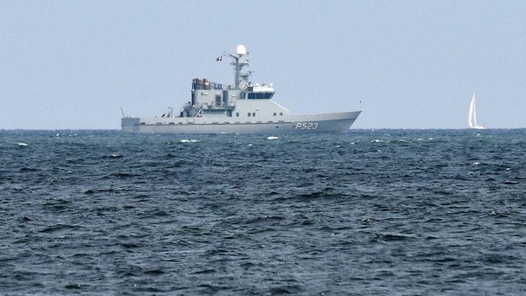 Sökningar i Köge bukt med danska flottans fartyg HDMS Najaden. Foto: Johan Nilsson/TT.