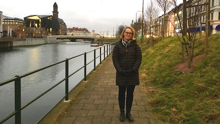 Caroline Larsson, som är landskapsarkitekt på Planeringsavdelningen på Gatukontoret.