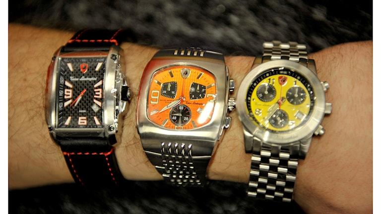 Tre armbandsur.