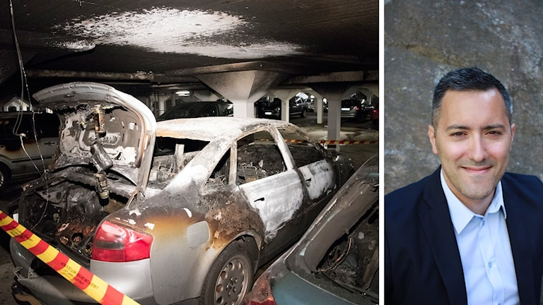 Utbrända bilar i ett underjordiskt garage på Stensögatan i Malmö på tisdagen. Larmet om branden i garaget kom vid 21-tiden på annandag påsk. Malmö har under påskhelgen drabbats av tre bränder i underjordiska parkeringsgarage.
