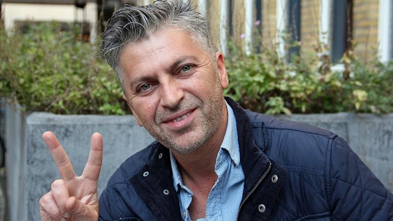 Shorash Atroushi, kurd i Malmö som röstade för självständighet för irakiska Kurdistan. Foto: Hans Zillén/Sveriges Radio.