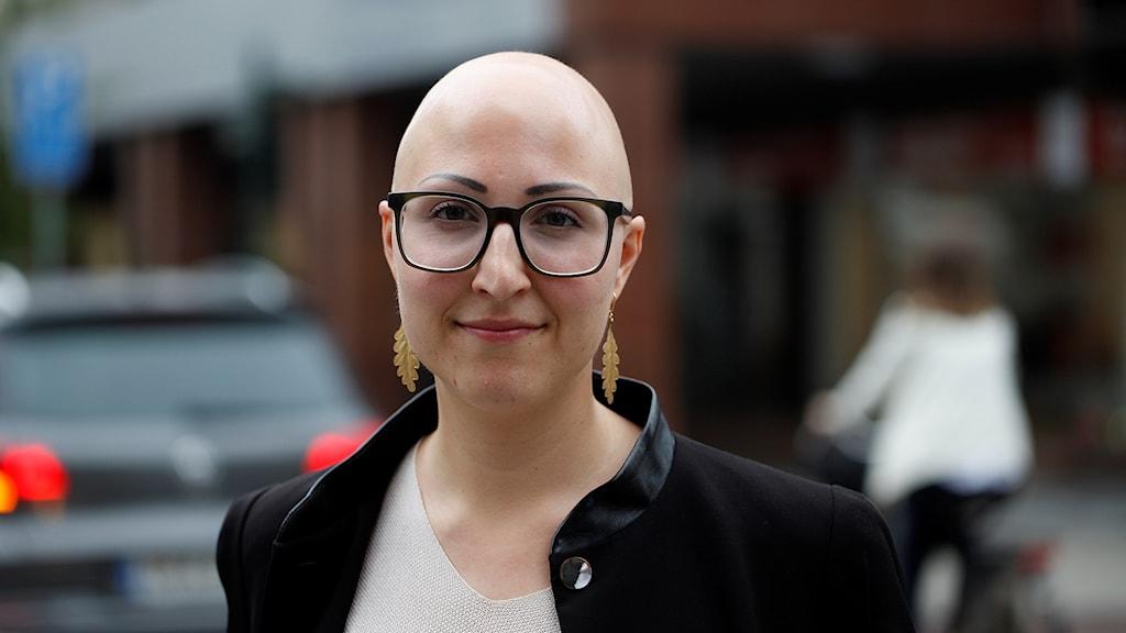 Lilian Botvalde har den autoimmuna sjukdomen Alopesia. Foto: Karin Genrup/Sveriges Radio
