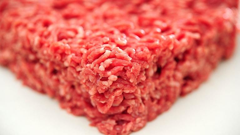 Köttfärs i butik.