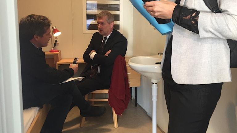 Kriminalvårdens generaldirektör, Nils Öberg, besökte Malmö i veckan.