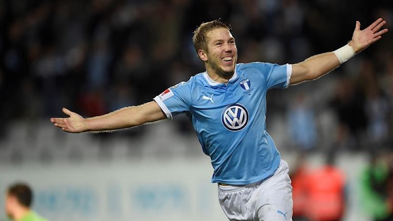 Anton Tinnerholm i Malmö FF. Foto: Björn Lindgren/TT
