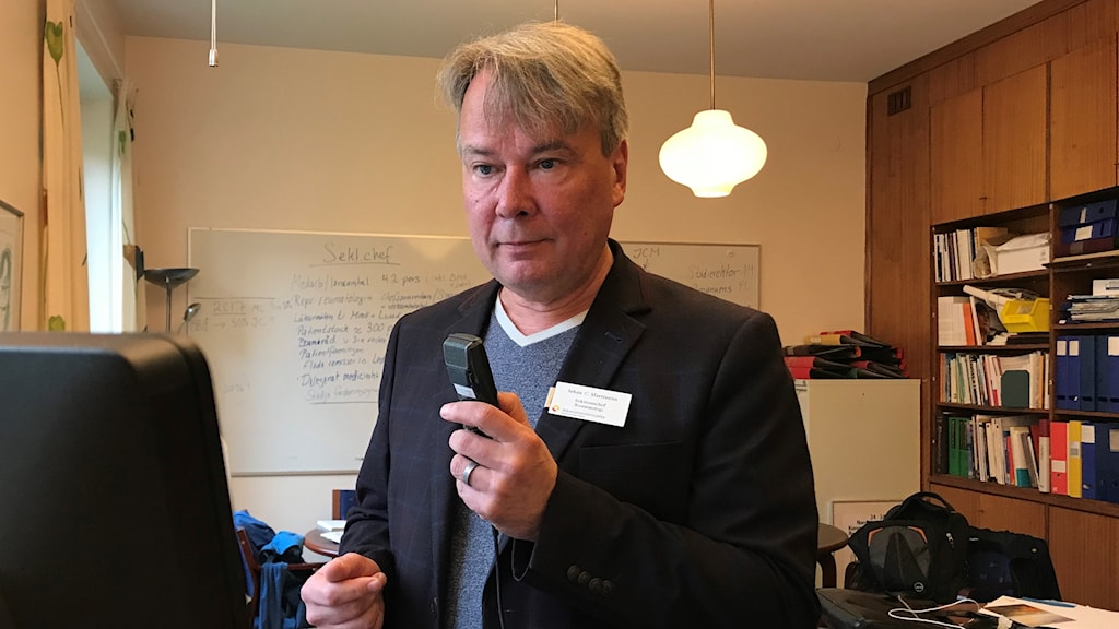 Jehns Martineus, sektionschef på reumatologen på Skånes universitetssjukhus. Foto: Petra Haupt/Sveriges Radio