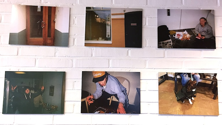 Bilder från fotoutställning om utanförskap.