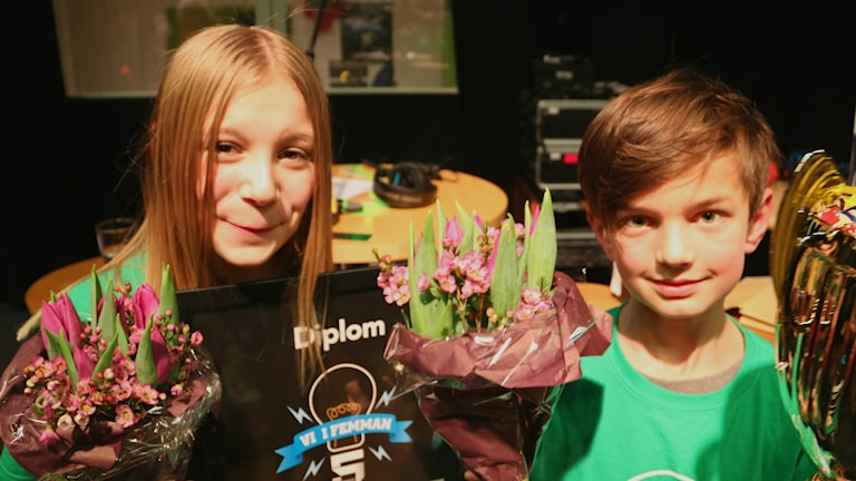 Seth Nölev och Alva Stala von Schewen från Klass 5D på Internationella Engelska skolan i Lund.