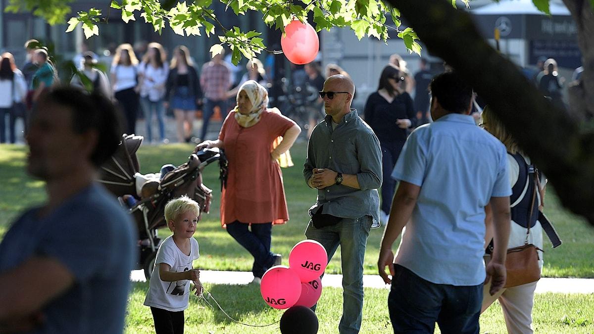 Publik i Almedalen.