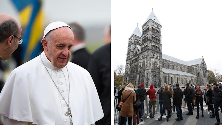Påven är i Lund.