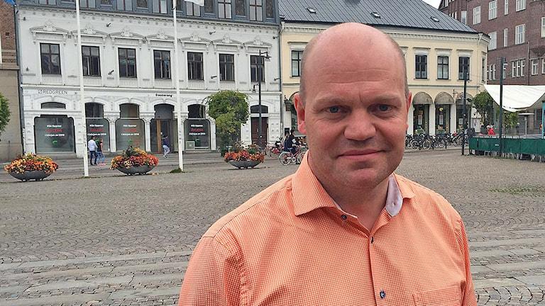 Anders Almgren, socialdemokrat och kommunstyrelsens ordförande i Lund. Foto: Jonathan Hansen/Sveriges Radio.