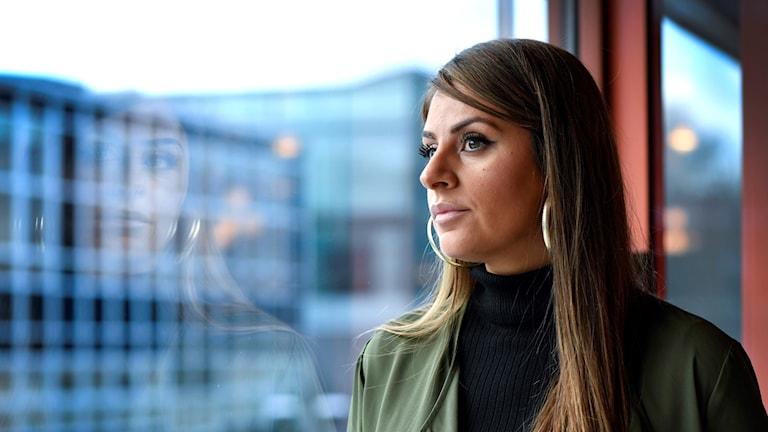 Manal Masri, Guldbaggenominerad för dokumentärfilmen Brev till en seriemördare och producent på SR Drama i Malmö. Foto: Anders Wiklund/TT.