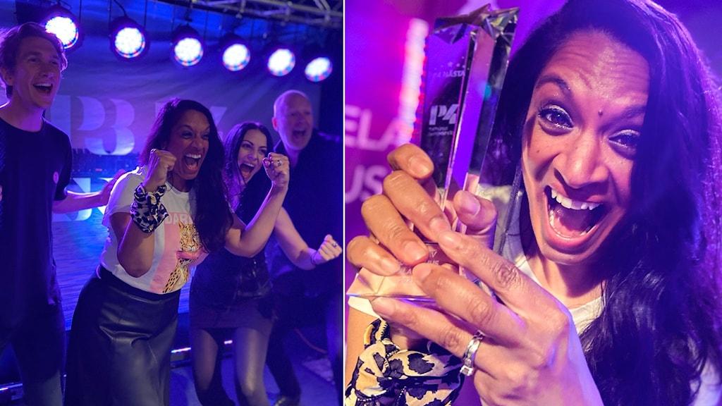 Årets vinnare av P4 Nästa hos P4 Malmöhus - Enoka.
