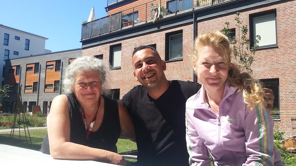 Kristina Runklint, Jalal Kouider och Jenny Eriksson.