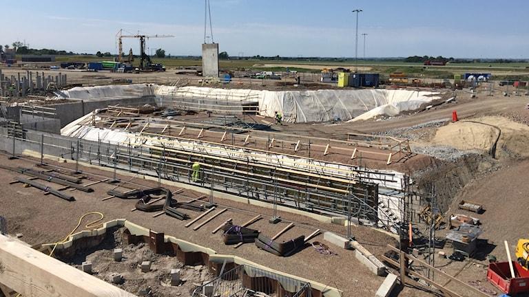 Bygget är i full gång av European Spallation Source - ESS.