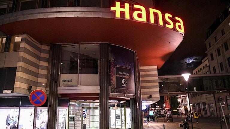 Entrén till Hansa från Studentgatan i Malmö.
