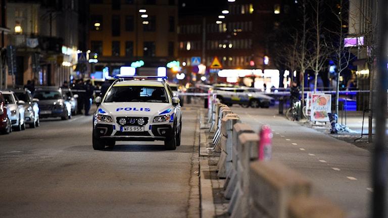 Efter en av skjutningarna i Malmö i år.