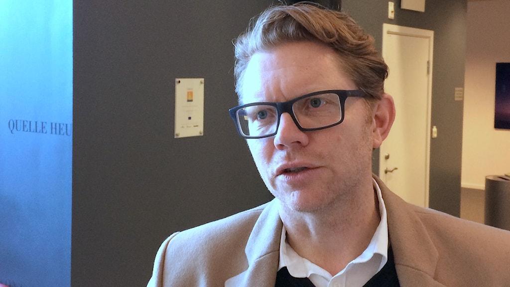 Jonas Gallon, e-hälsosamordnare, Region Skåne. Foto: Petra Haupt/Sveriges Radio
