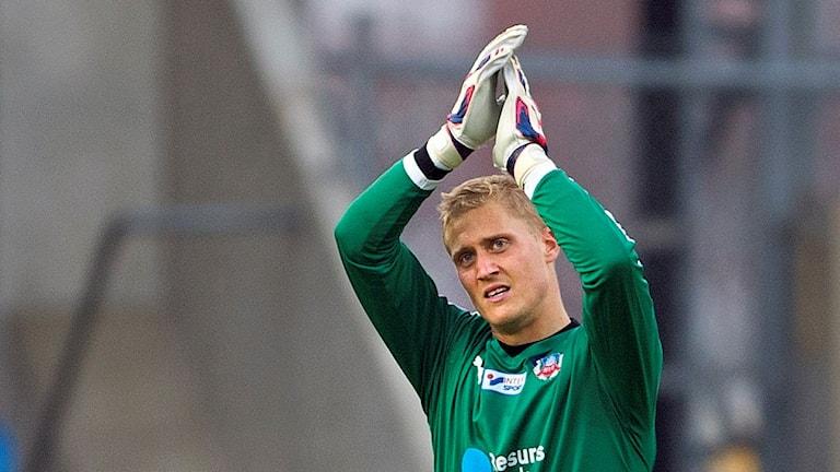 Pär Hansson, målvakt, Helsingborgs IF. Foto: Björn Lindgren/TT