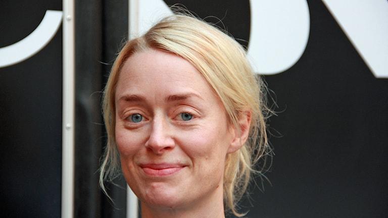 Saga Gärde från Malmö har regisserat Brev för en krigerska för Drama i P1. Foto: Hans Zillén/Sveriges Radio.