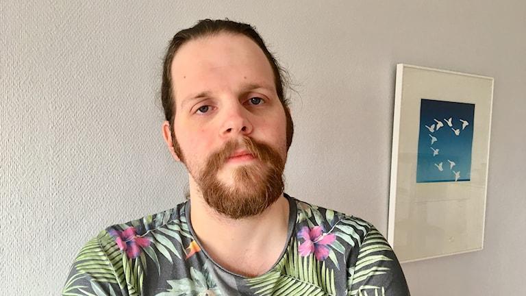 Sören Nordh, förtroendevald för Vårdförbundet på akutmottagningen i Helsingborg. Foto: Nina Sköldqvist/Sveriges Radio.