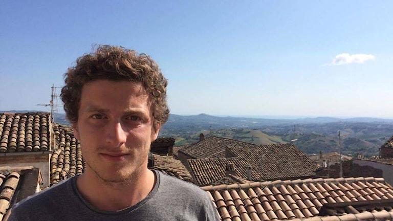 Viktor Eriksson från Helsingborg på semester i Penne upplevde skalven i Italien