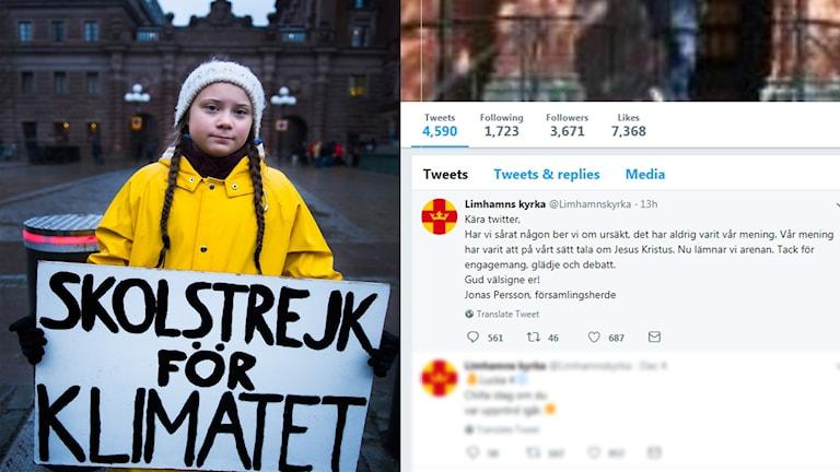 15-åriga Greta Thunberg deltar i klimatmanifestation i Stockholm.