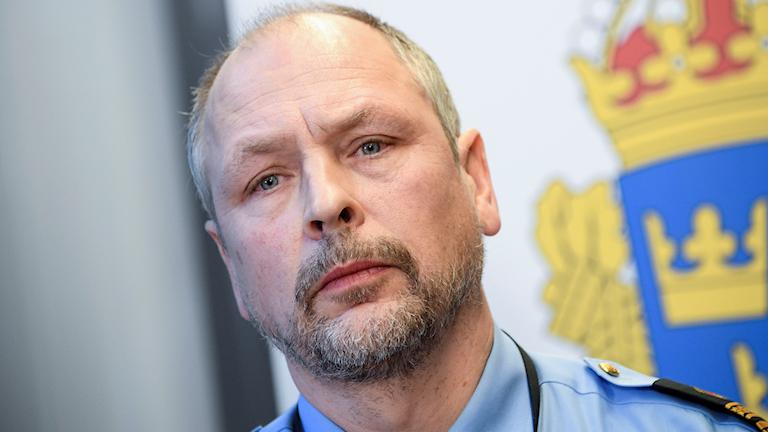 Erik Jansåker, lokalpolisområdeschef i Malmö. Foto: Johan Nilsson/TT