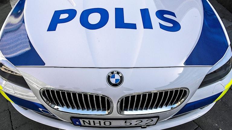 Polisbil, en BMW 5-serie Foto: Tomas Oneborg/TT
