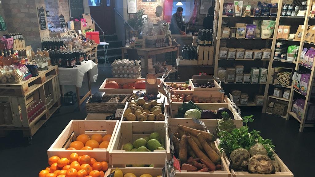Sedan i maj driver föreningen Matkooperativet butik i Helsingborg. Foto: Nina Sköldqvist/Sveriges Radio