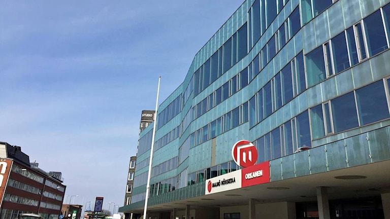 Malmö universitets byggnad Orkanen. Foto: Sandra Jakobsson/Sveriges Radio