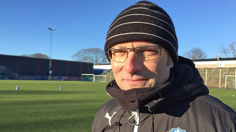 Per-Ola Ljung, en av två nya fotbollstränare i Helsingborgs IF. Foto. Anna Hanspers/Sveriges Radio.