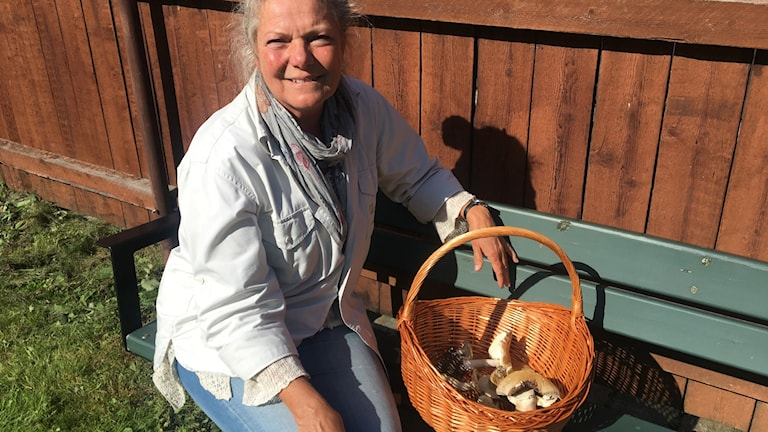 Cecilia Wånge, mykolog och chef för Fredriksdals muséer och trädgårdar har tillsammans med kollegor fyllt årets svamputställning.