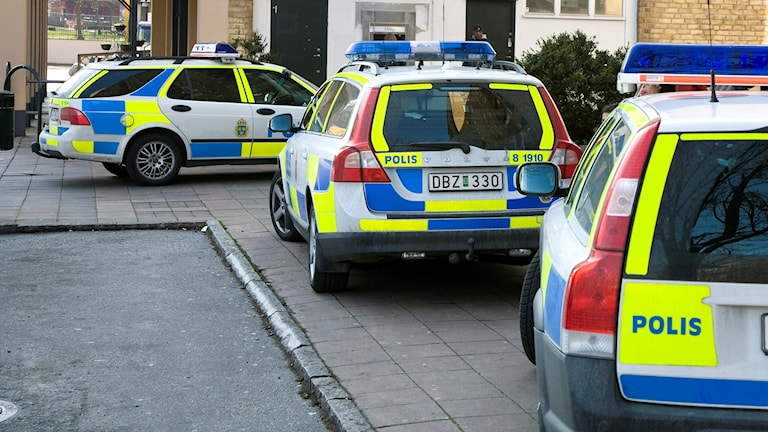 Polisbilar. Foto: Stig-Ņke Jönsson / TT