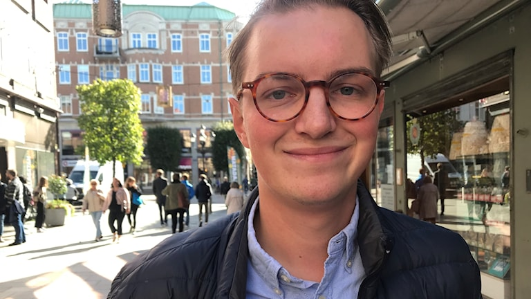 Jonny Cato Hansson på Kullagatan i Helsingborg.