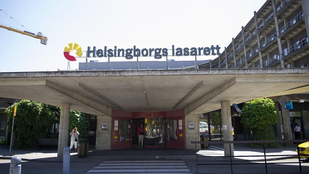 Utsidan på Helsingborgs lasarett.