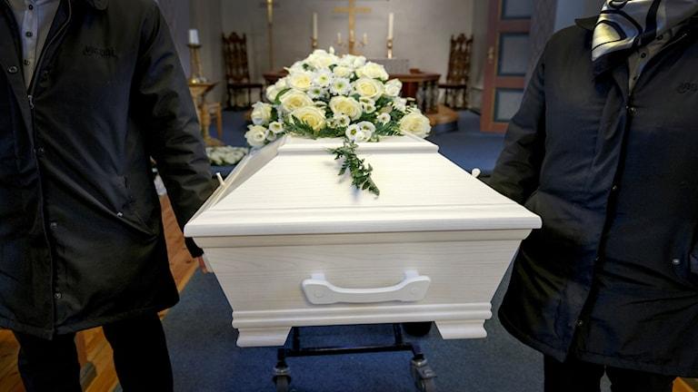 Begravning i en norsk kyrka.