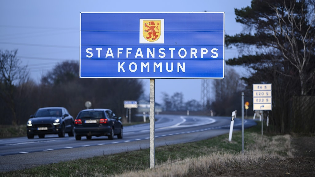 Skylt vid kommungränsen till Staffanstorp.