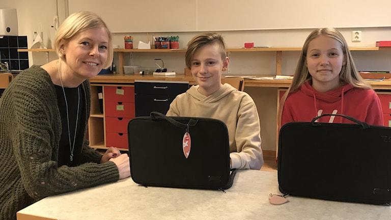 Anna Danielsson, Matilda Fagerberg och Victor Reuterswärd