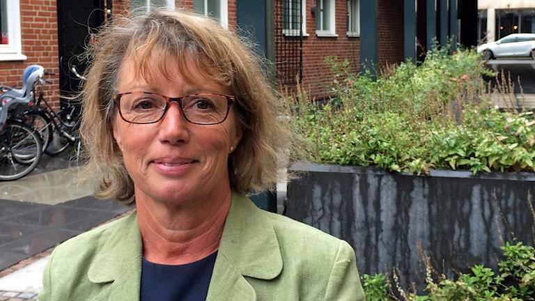 Angela Everbäck (MP), ordförande i demokratiberedningen. Foto: Petra Haupt/Sveriges Radio