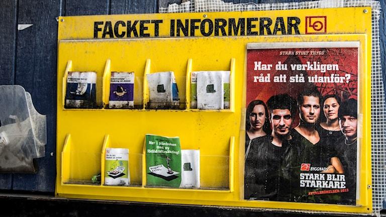 Informationshylla: Facket informerar.