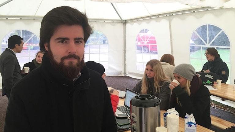 Björn Sanders, ordförande i Lunds universitets studentkårer