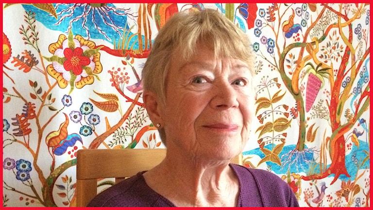 Margot Örn, jazzälskande Höörsbo som är med i P4 Malmöhus publiknätverk. Foto: Sofie Ericsson/Sveriges Radio.