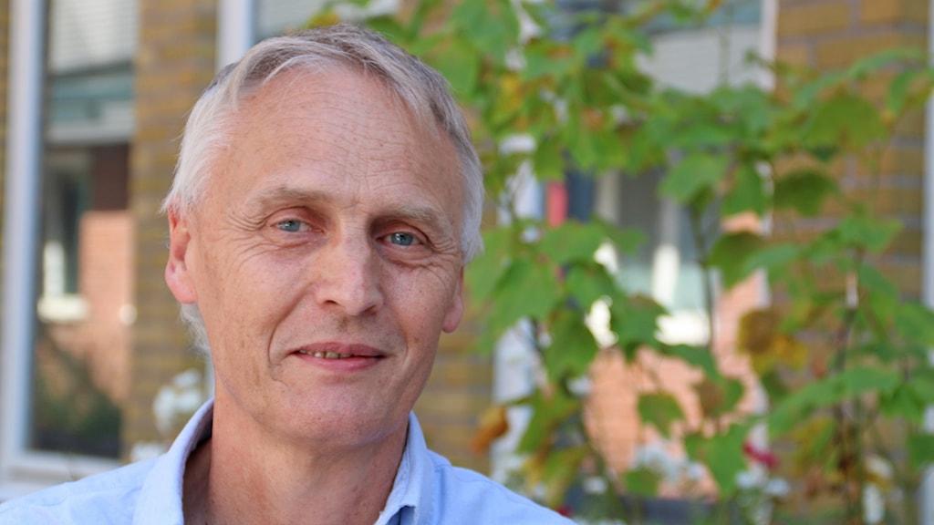 Rickard Persson, Helsingborgare som är Miljöpartiets förstanamn i västra Skåne på riksdagslistan. Foto: Hans Zillén/Sveriges Radio.
